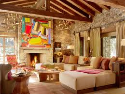 choosing rustic living room. Choosing One Of Many Ideas For Interior Decorating : Rustic Living Room Decor With Cream I