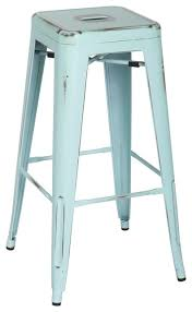 distressed metal bar stools. interesting stools metropolis metal backless bar stools set of 4 distressed blue farmhouse bar in stools l