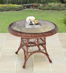 sleek outdoor table in natural colour