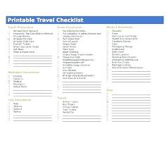 Collection Of Printable Travel Packing List Template Checklist