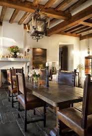 rustic spanish style furniture. Interior, Antique And Modern Style Combination For House Design: Wooden Dining Table Set Rustic Spanish Furniture R