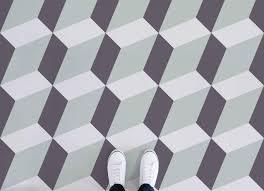 slanted cube flooring