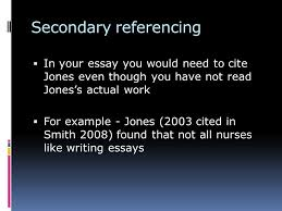 why and how referencing  this is very important for task  14 secondary referencing