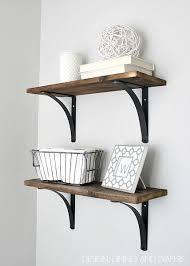DIY shelves with eye-catching brackets