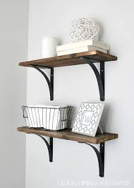 diy shelves with eye catching brackets