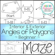 Angl Es Interior Exterior Angles Of Polygons Maze Beginner By Amazing