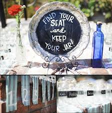 Seating Chart And Favors In One Mason Jar Favors In 2019