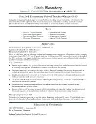 Elementary Teacher Resume Template 7 Free Resume Templates ...