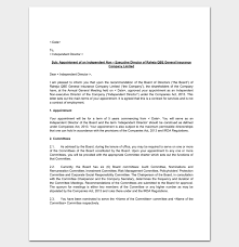 Appointment Letter For Insurance Company 1 Letter Templates