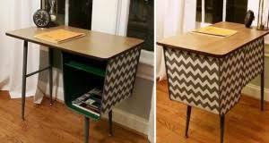 stenciled chevron stripes go old school chevron painted furniture