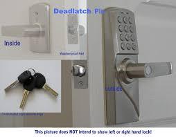 How To Unlock A Locked Door Security Electronic Digital Keypad Door Lock Mrdj Left Hand Keypad