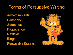 the art of persuasive writing ppt forms of persuasive writing