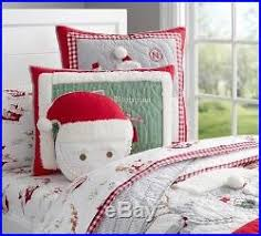 NEW Pottery Barn Kids SANTA Holiday Twin QUILT & SHEETS & SHAM ... & NEW Pottery Barn Kids SANTA Holiday Twin QUILT & SHEETS & SHAM Christmas ... Adamdwight.com
