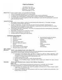 Or Nurse Resume Objective Mother Baby Sample Student Skills List