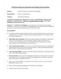 Marketing Coordinator Job Description Corporate Event Planner