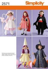 Halloween Costume Patterns Extraordinary Simplicity Pattern Halloween Costume Vampire Witch Little Bo Peep