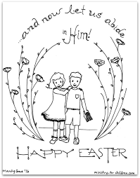 Let Us Abide In Him Easter Coloring Page Ministry To Children