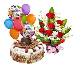 birthday cake and balloons and gifts. Wonderful And Bunch Of 12 Red Roses 1 Kg Black Forest Cake And 6 Pcs Balloons  Inside Birthday And Balloons Gifts N