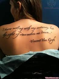 Dream Quote Tattoos Best of Dream Quote Tattoo On Back Tattoo Viewer