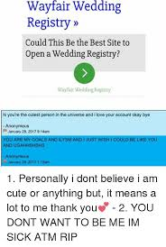 wedding registry sites. Delighful Sites Memes  And Sites Wayfair Wedding Registry Could This Be The Best Site With Sites C