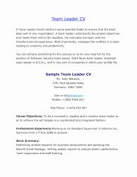 Free Sample Warehouse Resumes Awesome Team Leader Resume Cover