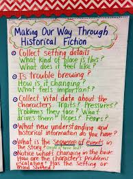 Historical Fiction Anchor Chart How To Write A Historical Fiction Book