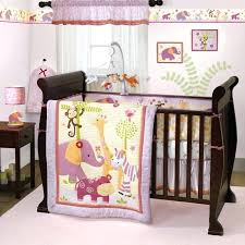 jungle bedding set lavender and pink jungle safari baby girl nursery zebra zoo crib bedding set