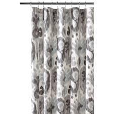 still water grey shower curtain
