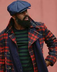 go for a sophisticated look in a red plaid pea coat and a navy and green