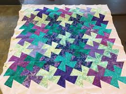 Twister quilt made from using 6 1/2