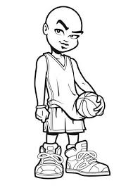 Small Picture NBA Cartoon of Michael Jordan Coloring Page Color Luna