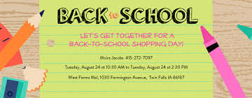 Back To School Invitation Template Online Back To School Party For Children Invitations Evite