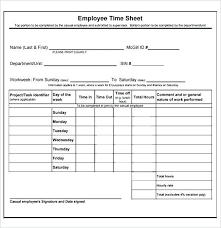 Employee Time Sheets Excel Daily Time Sheet Form Threeroses Us