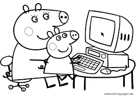 peppa pig printable coloring pages fresh new free colouring pdf