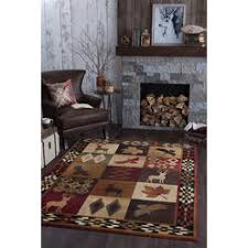 8x10 area rugs. Tayse Rugs Universal Diamond Deer Novelty Lodge Pattern Multi-Color Rectangle Area Rug, 8x10