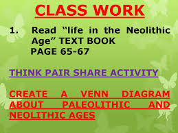 Neolithic And Paleolithic Venn Diagram Cardio Look At Page 67 In Your Text Book Why Do You Think