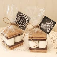 s mores favor kits 12 s mores baby shower favor kits with tags baby shower favors thank you gift diy party favors baby shower thank you