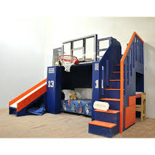loft bed with slide ultimate basketball bunk bed indoor playhouse sized basketball hoop drawers diy loft