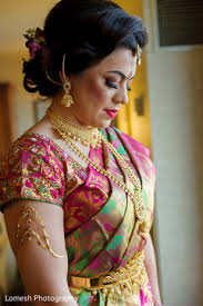 indian bridal hair and makeup indian bride getting ready ceremony fashion south indian