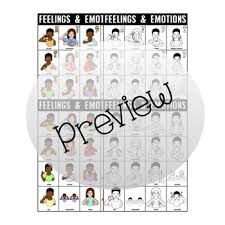 Asl American Sign Language Feelings And Emotions Charts