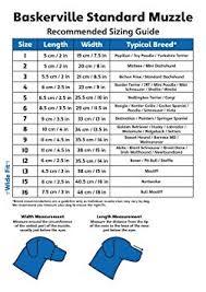 Baskerville Muzzle Size Chart Baskerville Muzzle Size 8