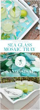 love it don t forget to pin it sea glass mosaic tray