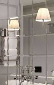 6 x mirrored square wall tiles bevelled 30cm x 30cm