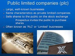 forms of business organisation igcse and as level business studies the second type of incorporated form of business ownership is the public limited company also sometimes known as a plc