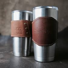 a great option for the dad on the go who also loves coffee is this leather yeti handle