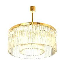 drum shade crystal chandelier drum pendant