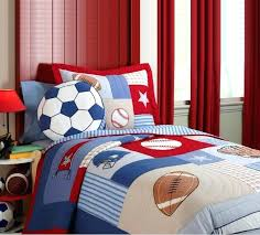 football bedding twin home textile bedspread cotton kids size sports boys baseball basketball comforter set