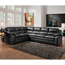 simmons modern furniture metal side table 2. a black bonded leather sectional from simmons is contemporary and comfy tucker 2 modern furniture metal side table n