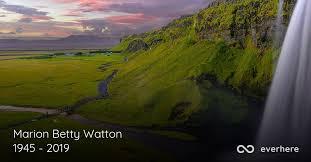 Marion Betty Watton Obituary (2019) | Aylesford, Nova Scotia