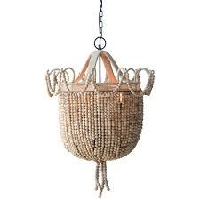 creative co op wood chandelier creative co op wood bead and woven chandelier creative co op